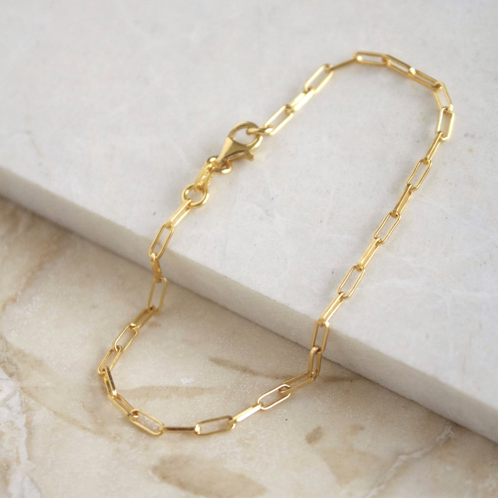 Yellow Jewellery Classic Chain Link Bracelet