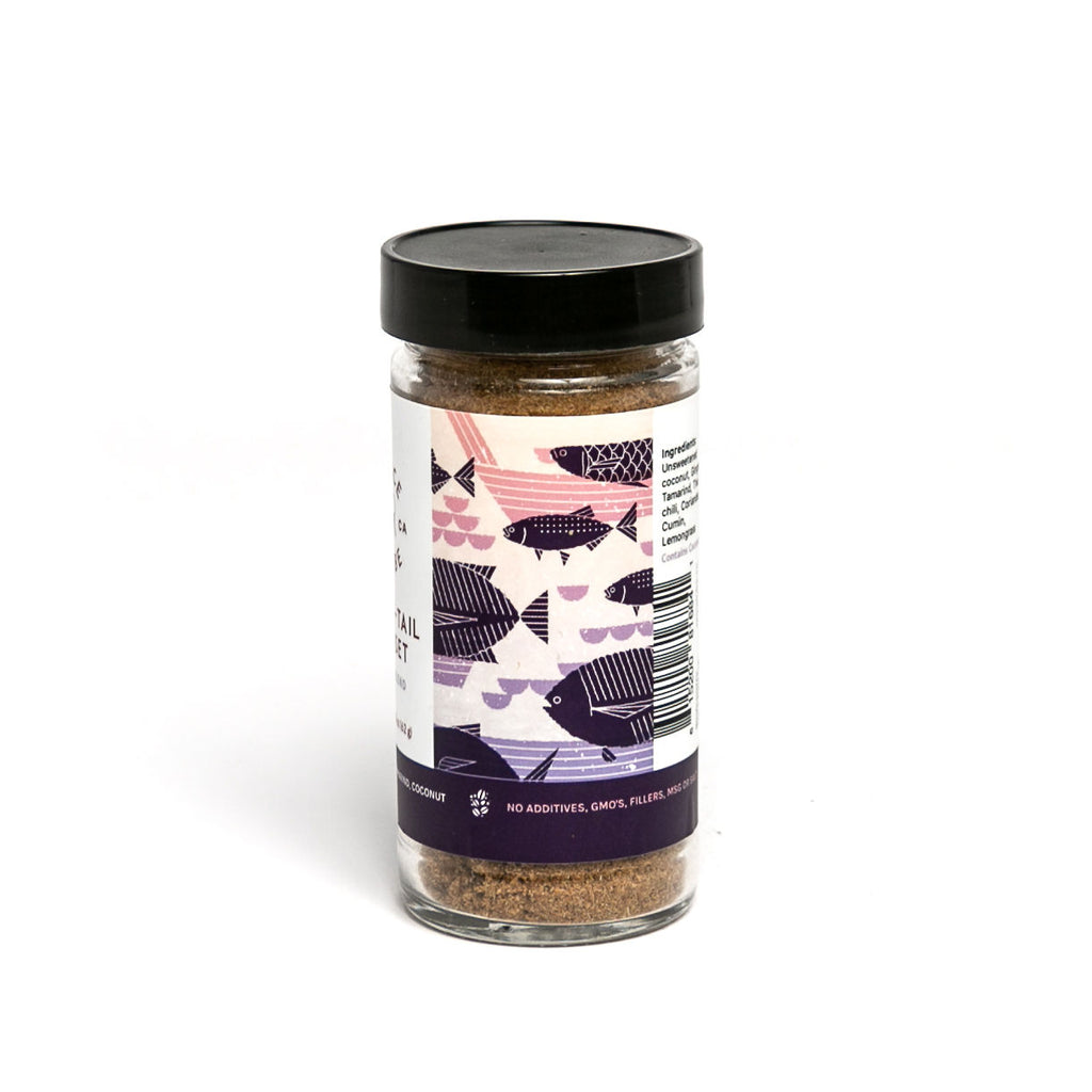 Spice Tribe Long Tail Sunset (a Thai blend that takes curry to another level). Back of jar.