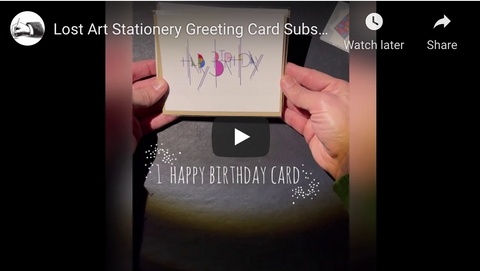 March 2021 Greeting Card Subscription Unboxing