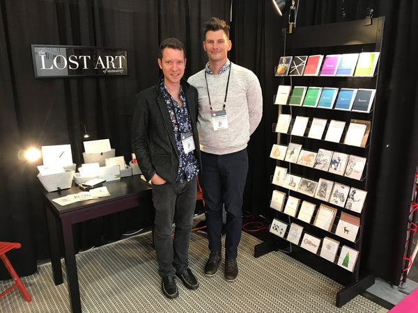 The Lost Art Booth at the National Stationery Show