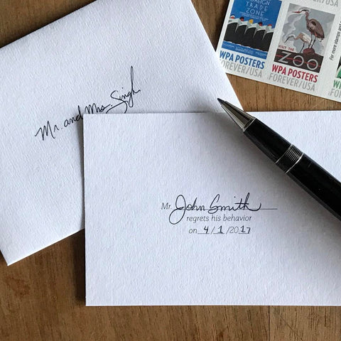 Mr./Ms. Regrets His/Her Behavior - Lost Art Stationery