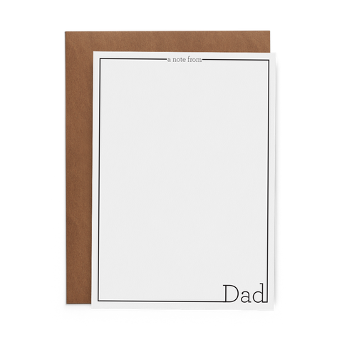 A Note from Dad Flat Cards - Lost Art Stationery