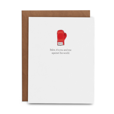 Babe, It's You and Me Against the World - Lost Art Stationery