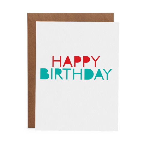 Happy Birthday - Lost Art Stationery