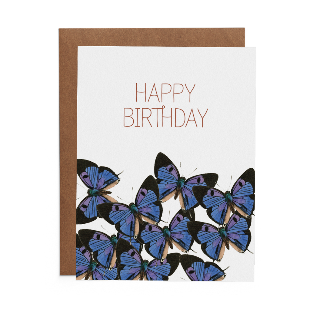 Happy Birthday with Butterflies