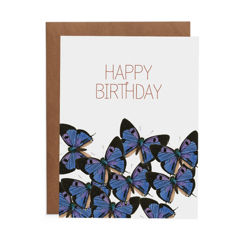 Happy Birthday with Butterflies - Lost Art Stationery