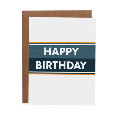 Happy Birthday Stripes - Lost Art Stationery