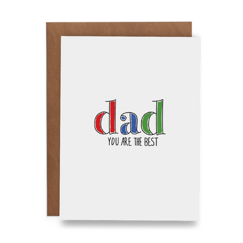 Dad You Are the Best - Lost Art Stationery