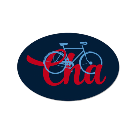 Bike Cha Sticker - Lost Art Stationery
