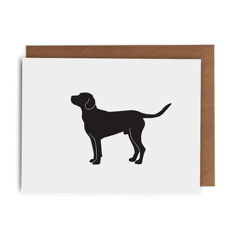 Chocolate Lab Greeting Card - Lost Art Stationery