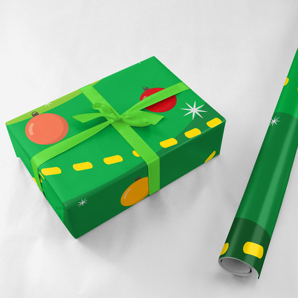 Christmas Tree Gift Wrap - Lost Art Stationery