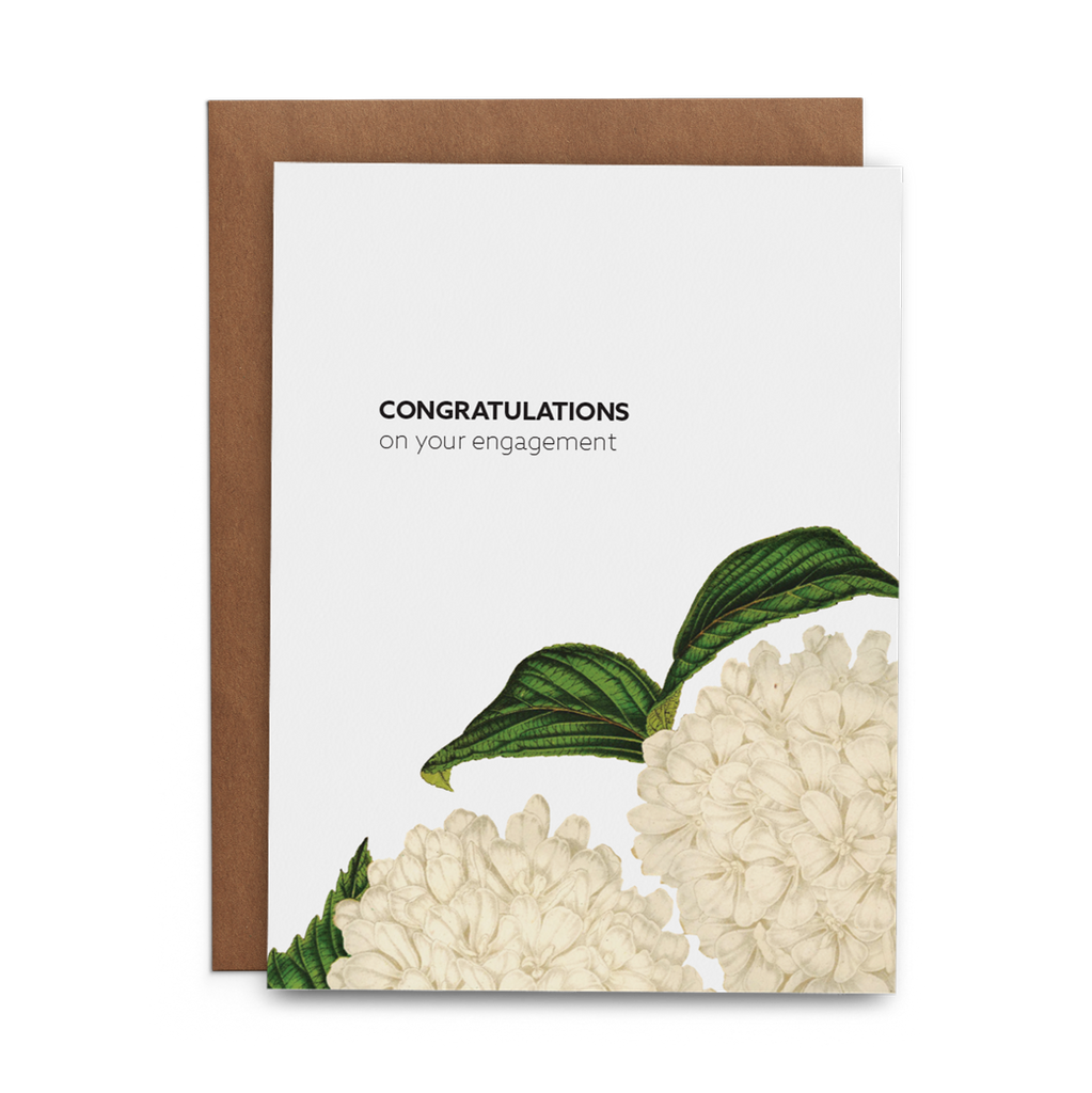 Congratulations on Your Engagement Greeting Card - Lost Art Stationery