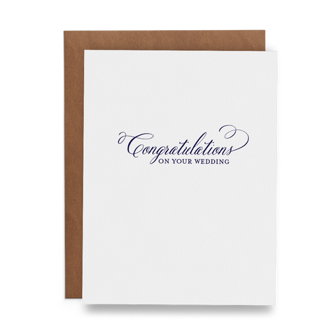 Congratulations on Your Wedding - Lost Art Stationery