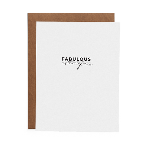 Fabulous Is My Favorite F Word - Lost Art Stationery