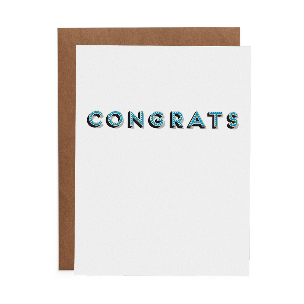 Congrats in Lights - Lost Art Stationery