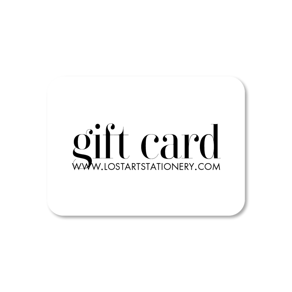 Gift Card - Lost Art Stationery