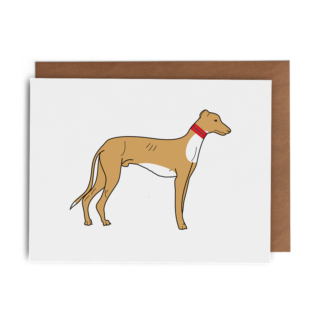 Greyhound Greeting Card - Lost Art Stationery