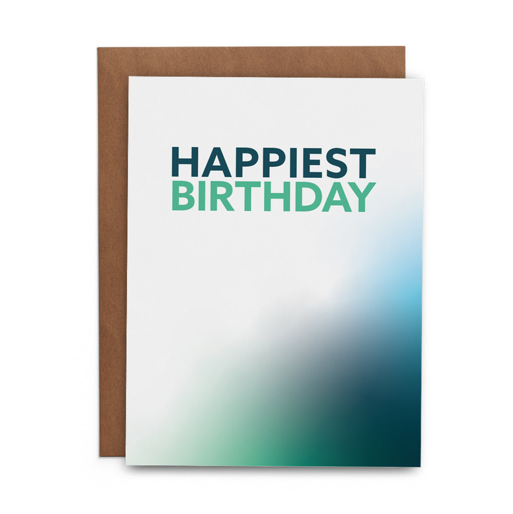 Happiest Birthday Gradient - Lost Art Stationery