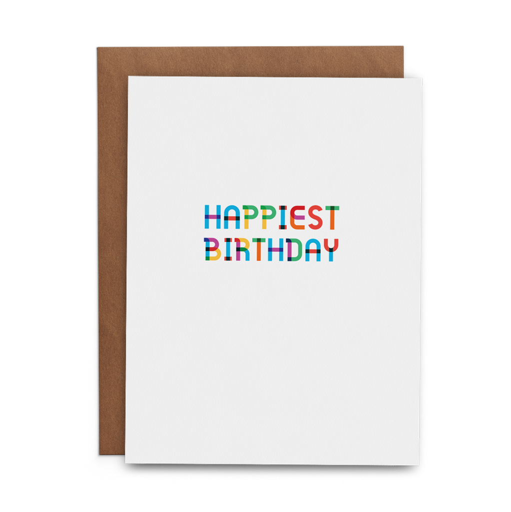 Happiest Birthday Greeting Card - Lost Art Stationery