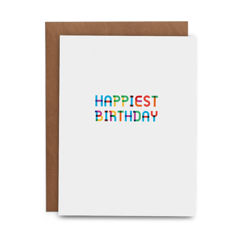 Happiest Birthday Greeting Card (Multicolored Type) - Lost Art Stationery