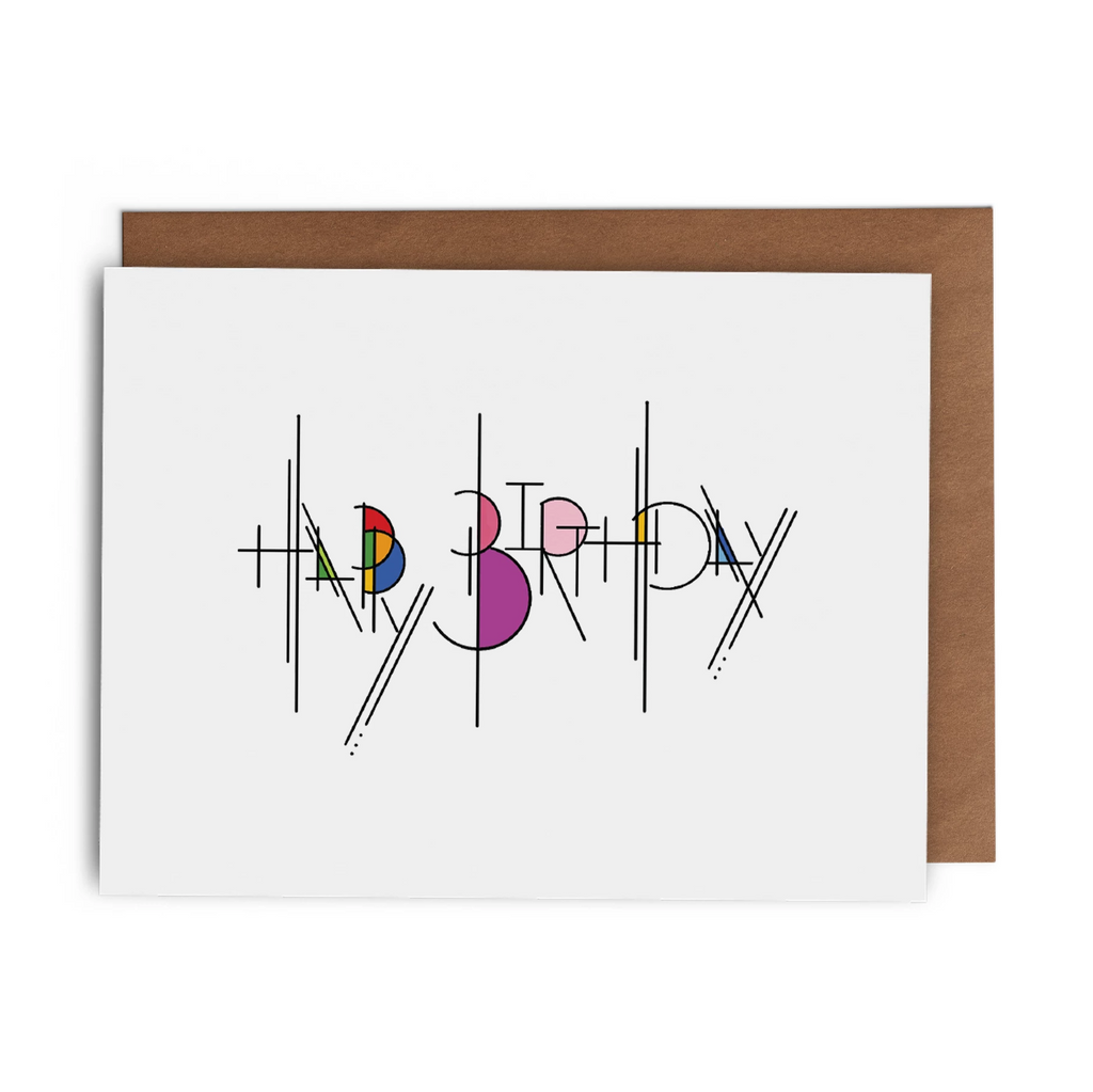 Happy Birthday Frank Lloyd Wright Arts and Crafts Style Greeting Card
