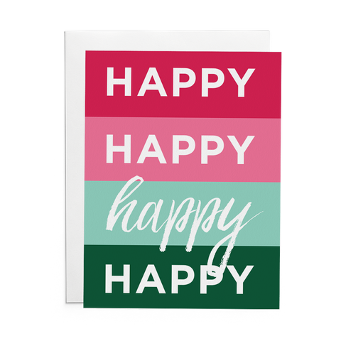 Happy Happy Happy Happy - Lost Art Stationery