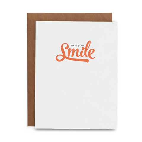 I Miss Your Smile - Lost Art Stationery