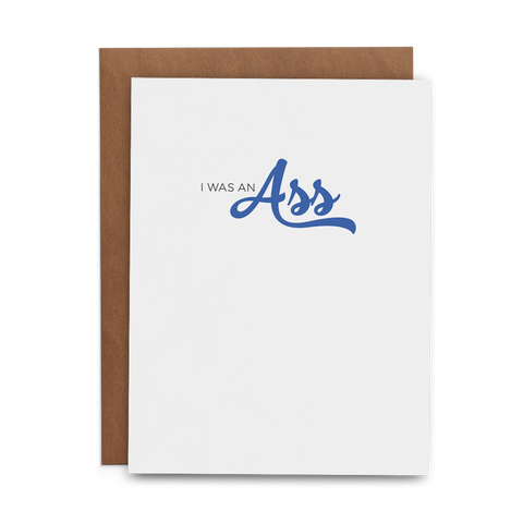 I Was an Ass - Lost Art Stationery