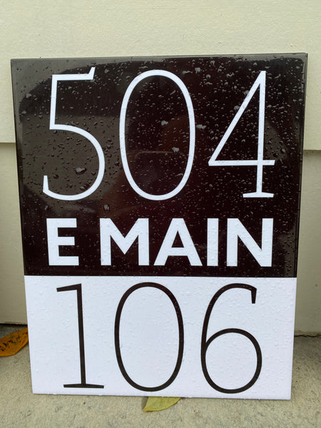 Ceramic Tile Door Numbers for East by Main