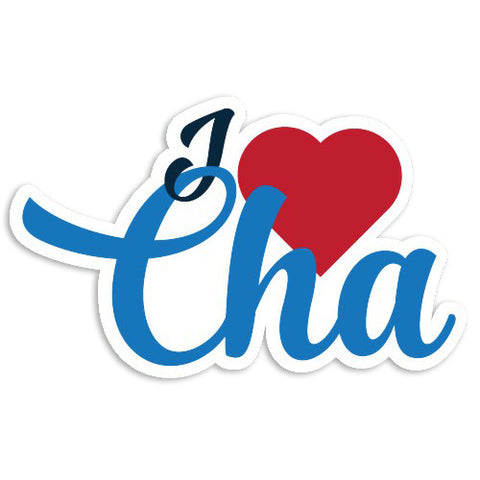 I Heart CHA sticker - Lost Art Stationery