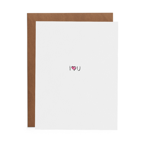 I Heart U - Lost Art Stationery