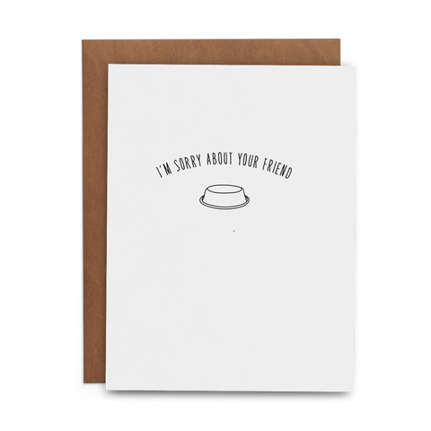 I'm Sorry About Your Friend - Cat - Lost Art Stationery