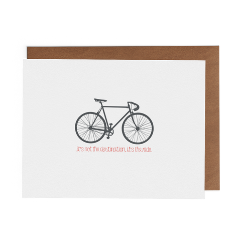 It's Not the Destination, It's the Ride - Lost Art Stationery