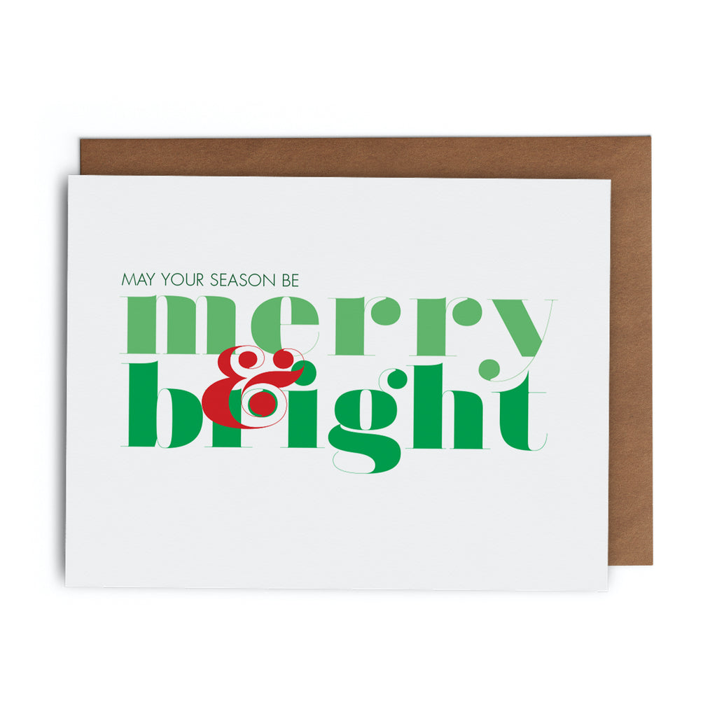 May Your Season Be Merry & Bright Christmas Holiday Greeting Card