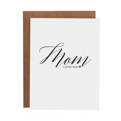 Mom I Love You - Lost Art Stationery