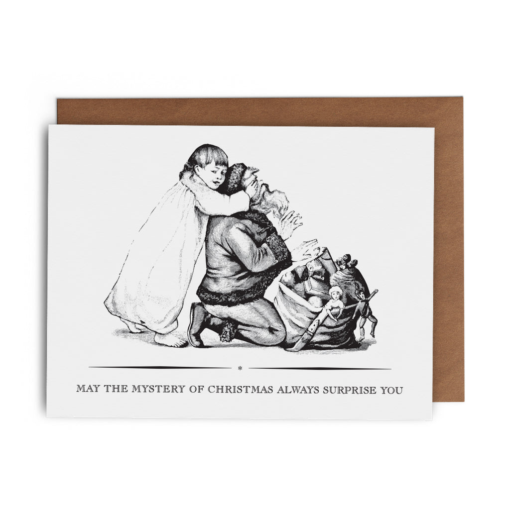 May the Mystery of Christmas Always Surprise You Christmas Greeting Card - Lost Art Stationery