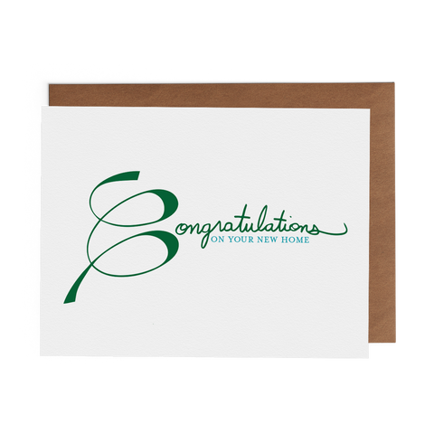 Congratulations on Your New Home - Lost Art Stationery