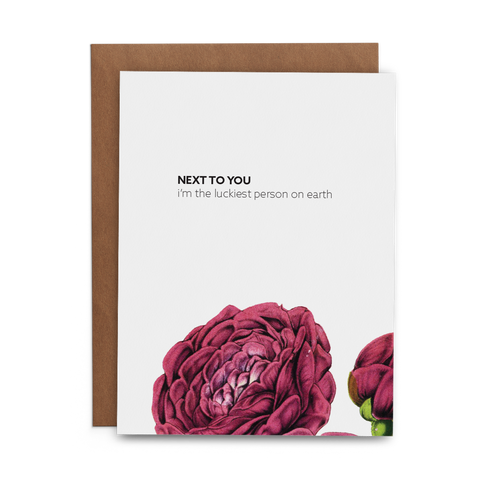 Next to you I'm the luckiest person on earth - Lost Art Stationery