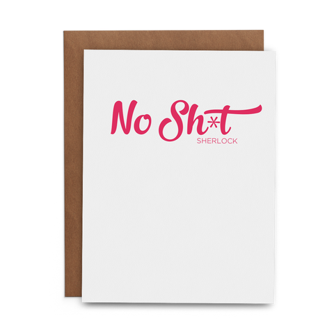 No Sh*t Sherlock - Lost Art Stationery