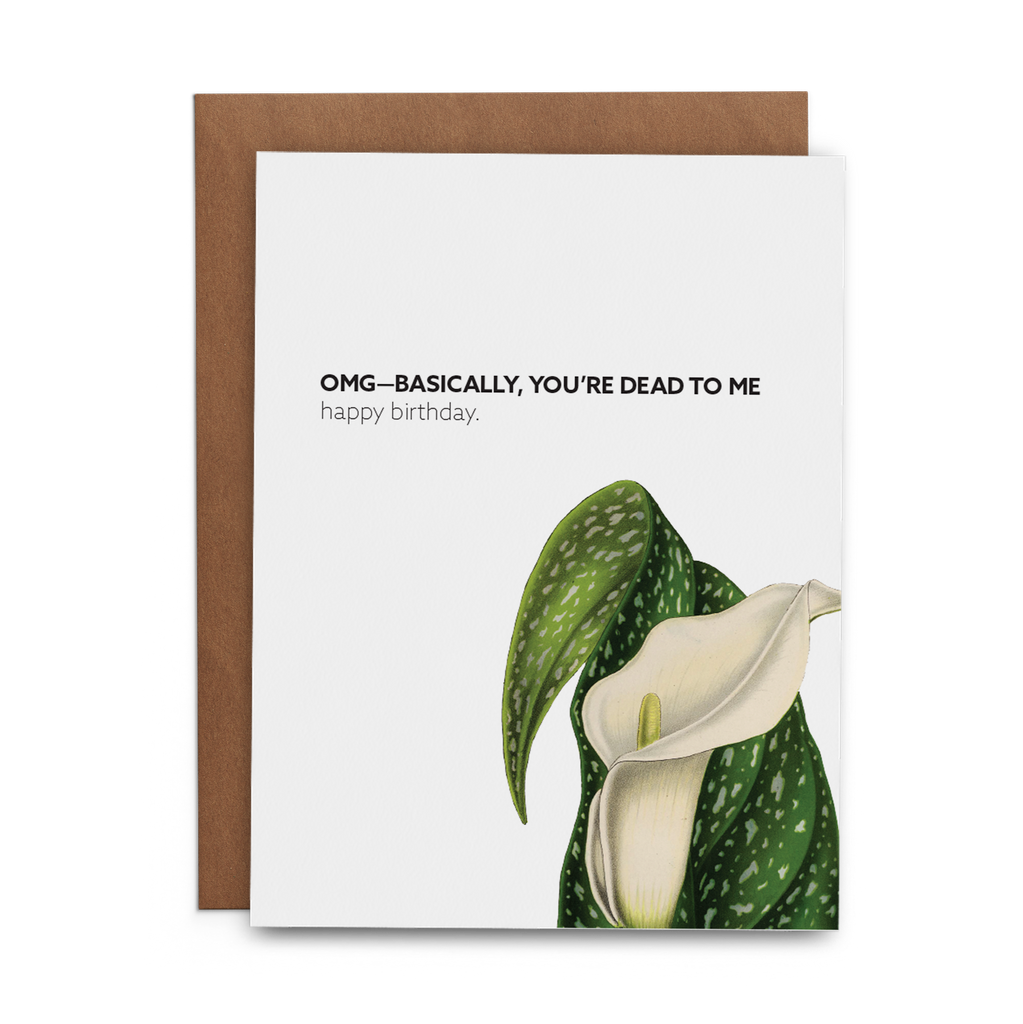 OMG—Basically, You're Dead to Me Happy Birthday - Lost Art Stationery