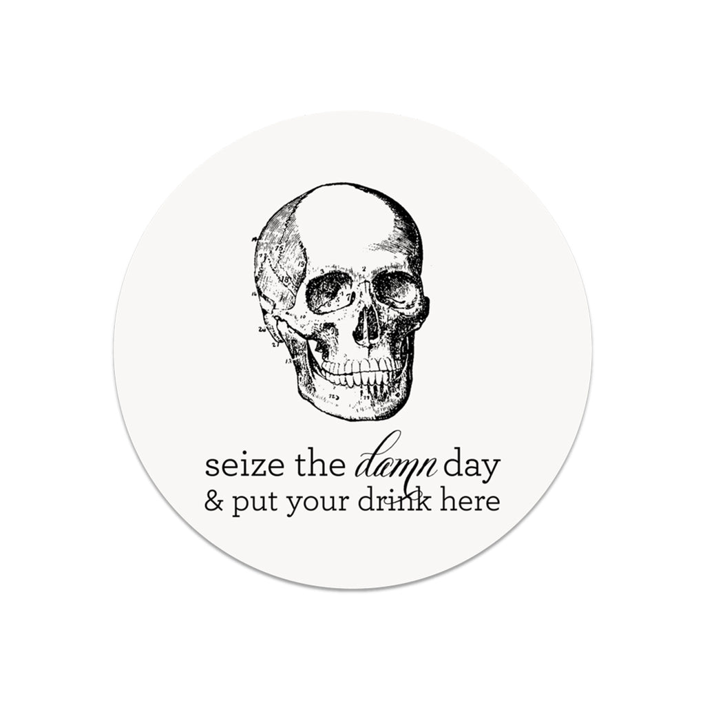 Seize the Damn Day & Put Your Drink Here - Lost Art Stationery