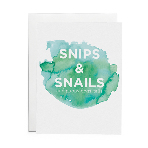 Snips & Snails and Puppy Dog Tails - Lost Art Stationery