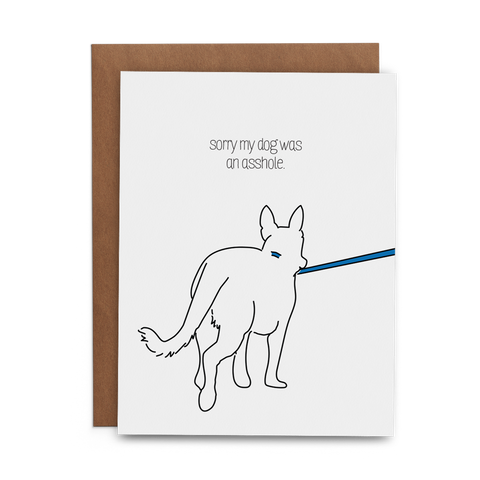 Sorry My Dog Was an Asshole - Lost Art Stationery