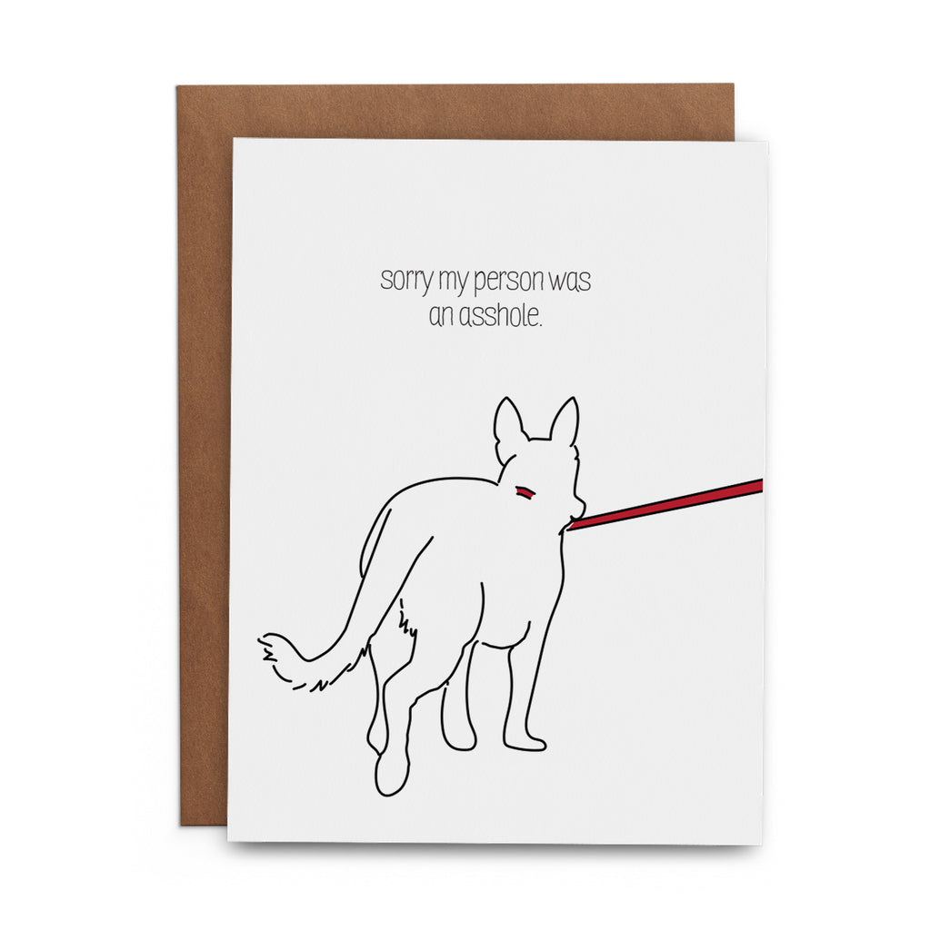 Sorry My Person Was an Asshole - Lost Art Stationery