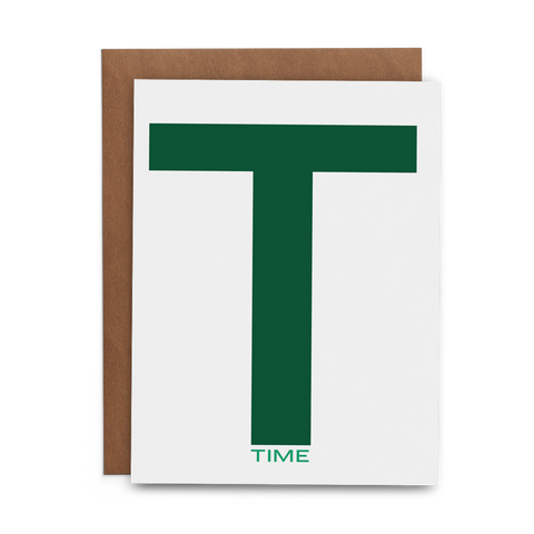 T Time - Lost Art Stationery