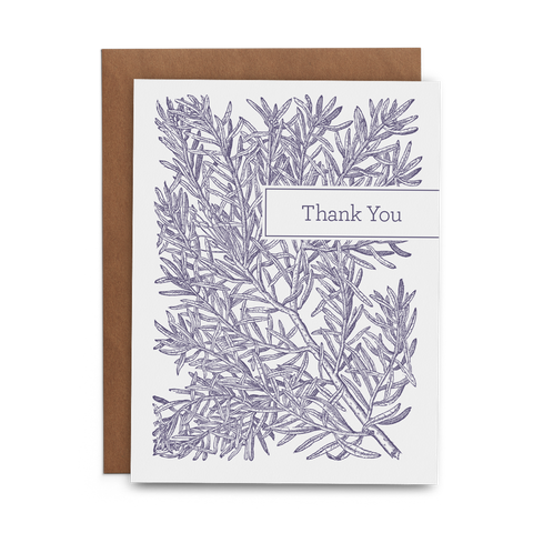Rosemary Thank You - Lost Art Stationery