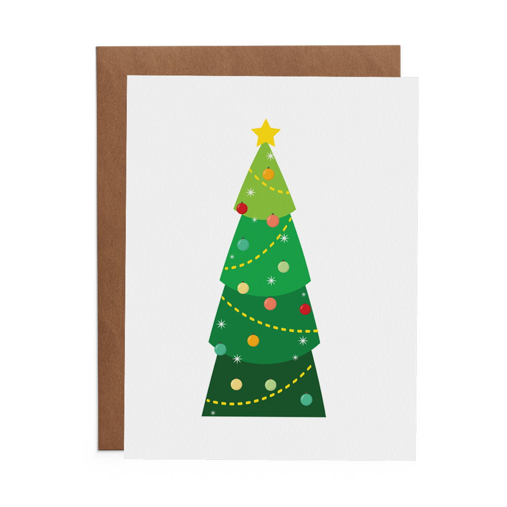 Christmas Tree Greeting Card - Lost Art Stationery