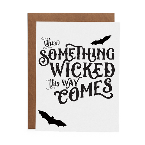When Something Wicked This Way Comes - Lost Art Stationery