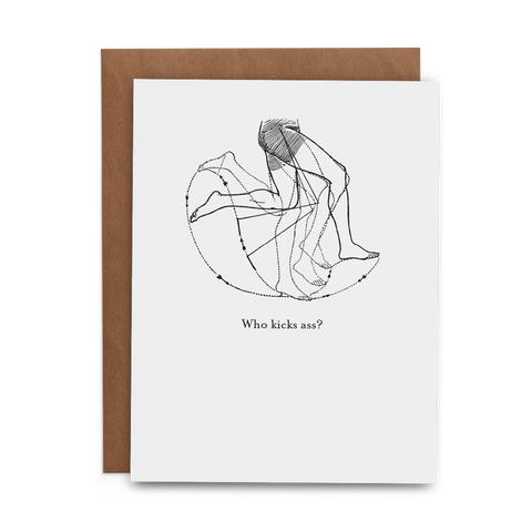Who Kicks Ass? - Lost Art Stationery