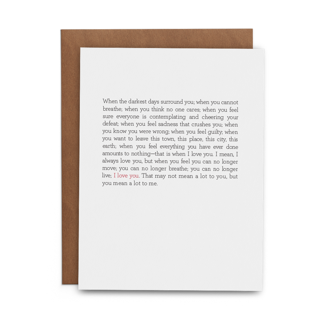You Mean A Lot To Me Greeting Card - Lost Art Stationery